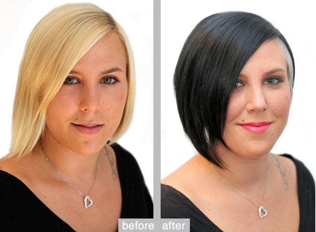 Vorher Nachher – New cut and color look